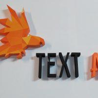 Logo i litery wycięte ze styroduru - w kolorze