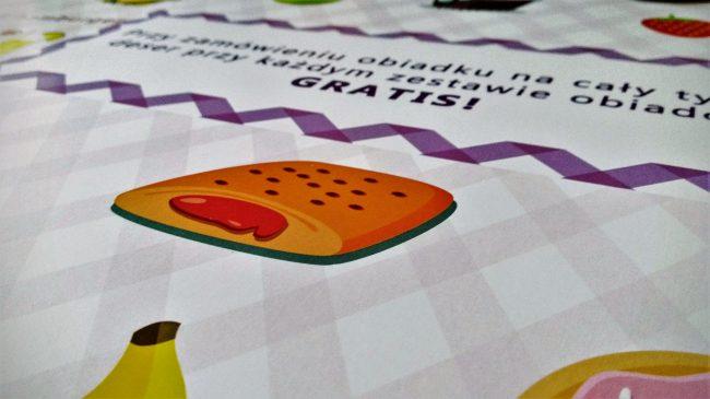 Projekt i wydruk jadłospisu dla najmłodszych