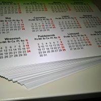 Wydruk kalendarzy ściennych